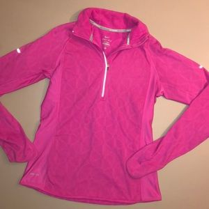 Pink Nike Pullover jacket w/back side pocket